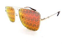 GUCCI Men's Sunglasses GG0108S 002 Gold/Orange SKULL 145 MADE IN JAPAN - New!