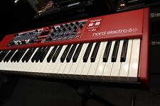 Nord Electro 6D 61-Note Semi-Weighted Waterfall Keyboard (Open Box) Perfect
