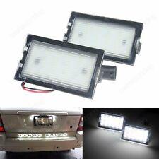 Land Rover Discovery LR3 LR4 White LED License Number Plate Light Lamp No Error