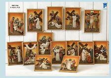 Set Quadri Via Crucis 16,5 cm in resina, 14 assortiti by Paben