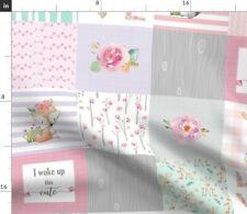Pink Grey Deer Woodland Baby Nursery Spoonflower Fabric by the Yard