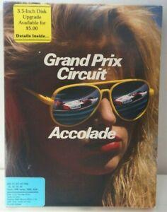 "Grand Prix Circuit Accolade Racing Game 1988 IBM/Tandy DOS PCs 5.25"" Disks Rare?"