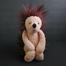 "JellyCat Bashful Hedgehog Plush Stuffed Animal Toy Tan Brown Medium 12"" Retired"