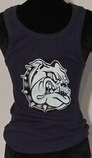 NEW!! Priape Blue Tank Top Shirt Bull Dog Pattern Size Small