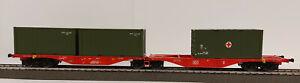 ACME 90165 Containertragwagen Bauart Sggrss 80 der DBAG beladen#Neu in OVP#