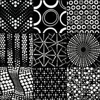 HANDMADE LUNN FABRIC BATIK BLACK & WHITE DOTS FAT QUARTERS BUNDLE FAT QUARTER