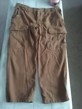 Duluth Trading Co Relaxed Fit Duck Canvas Work Pants 42x30 Brown