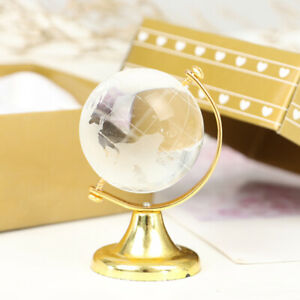 Gold Stand Crystal World Globe Home furnishings Brithday Gift With Decorate