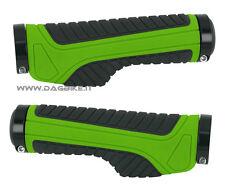 Force Manopole MTB Wide con Doppio blocco Verde Nero