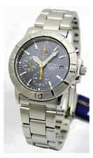 SEIKO Chronograph SND209 SND209P1 Men Blue Dial Stainless Steel Quartz Watch