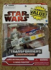 Star Wars Transformers Darth Vader, Luke Skywalker 2009 New sealed package Rare