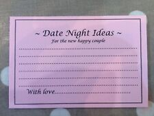Wedding Date Night Idea Cards Wedding Advice 225gsm Pink/ivory