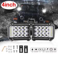 Work Cube LED Light Bar Combo Spot Flood Side Shooter Driving Fog Pod 4INCH 114W