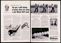 1961 Arnold Palmer photo Wilson golf clubs woods vintage print ad
