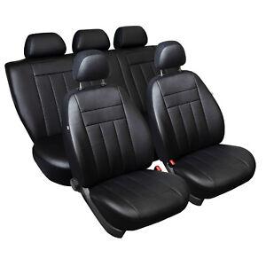 Toyota Yaris II (XP9) 2006-2010 Maßgefertigte Kunstleder Sitzbezüge in Schwarz