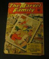 The Marvel Family #72 comic Fawcett 1952