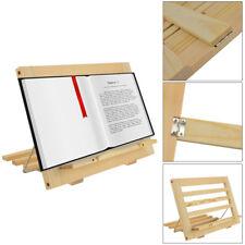 Wooden Cook Book Stand Recipe Display Reading Rest Folding Adjustable Holder
