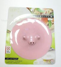 Silicone Pig Drop Lid Otoshi Buta 17.5 cm (6.8 inch) usable Microwave Pink