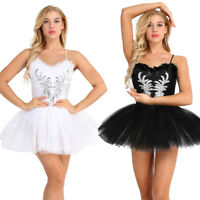 Sexy Women Ballet Dancewear Tutu Dress Ballerina Skirt Leotard Unitards Costume