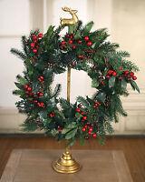 Christmas Door Wreath Garland Decor Red Berry Cones Christmas Decoration 60cm