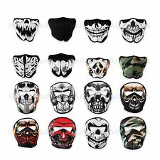 Neoprene Skeleton Half Full Face Skull Mask Motorcycle Motor Bike Ski Quad