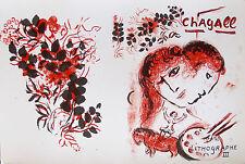 Marc Chagall Lithographe III 1974 Mourlot Original Lithograph Art