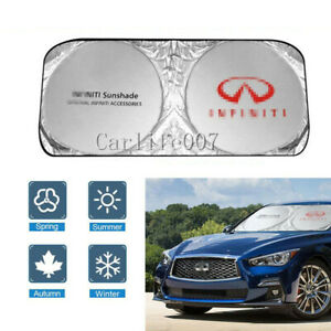 Car Front Windshield Sun Shade Shield Cover Visor UV Block Foldable for INFINITI