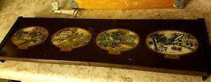 Vtg Warm-O-Tray Hot Plate Electric Food Warmer 4 Burners 4 Seasons Currier Ives