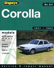 Toyota Corolla KE 70 series Repair Manual 1981-1984