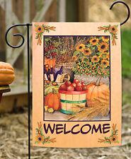 Toland Autumn Bounty 12.5 x 18 Fall Harvest Welcome Double Sided Garden Flag