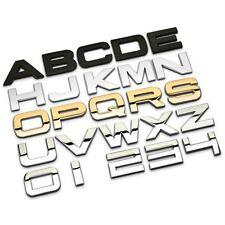 Number Letter H3cm DIY Ho 3D Metal Alphabet Auto Car Motor Emblem Badge Sticker