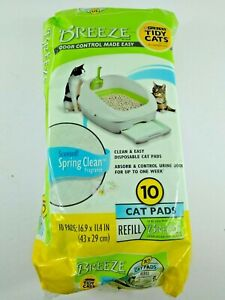 Purina Tidy Cats Litter System Pad Refills 10 Ct Breeze Spring Clean NIB Sealed