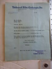 Movie letterhead 6/6/1923 Universal Film Exchange Edith Johnson Kodak Girl 1910s