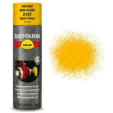 x24 INDUSTRIEL Rust-Oleum Signal Jaune Peinture aérosol solide CHAPEAU 500ml RAL