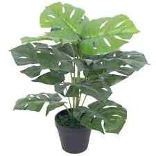 "vidaXl Artificial Monstera Plant w/ Pot 17.7"" Green Fake Leaf Tree Decor Home"
