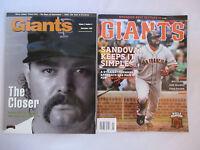 2 GIANTS MAGAZINES Sept 1992 ROD BECK w/WILL CLARK Card, Jun 2013 Pablo Sandoval
