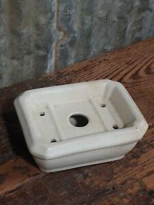 Antique Goodwin Bros Warranted Ironstone Soap Dish Bathroom Kitchen Sink Holder