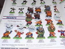 Games Workshop Blood Bowl DWARF TEAM 12 Classic figures (R!W 280)
