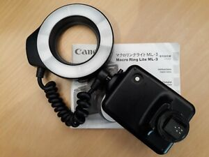 Excellent Canon Macro Ring Flash ML-3 in full working order with instructions