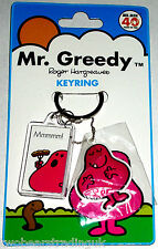 THE MR MEN by ROGER HARGREAVES OFFICIAL MR GREEDY KEYRING (New/Sld)
