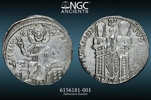 Andronicus II and Michael IX. 1295-1320 – NGC AU 3/5 4/5 SCARCE ISSUE 20mm - 77