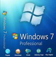 Windows 7 Professional 32/64bit Download Product For 1 PC Genuine