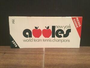 1978 New York Apples WTT tennis media guide.World Champions.Billie Jean King