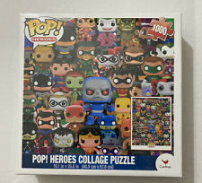 Funko Pop Heroes, DC Comics Pop Heroes Collage Jigsaw Puzzle - 1000 Pieces New