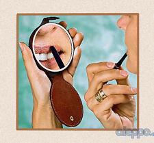Ledertasche Taschenspiegel 10fache Vergrößerung Kosmetikspiegel Make Up Spiegel