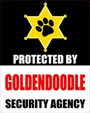 Protected By Goldendoodle Security Agency Sticker