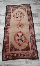 Antique Tibet tibetan  wool Rug Carpets  2.11x5.10 light brown