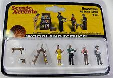 HO Scale Model Railroad Trains Woodland Scenics Newsstand people Figures 1906