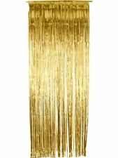 Christmas Party Decoration Door Tinsel Shimmer Curtain Gold 91 x 244cm Smiffys