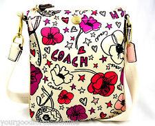 NEW RARECoach Kyra Poppy  Floral Swingpack/Crossbody Shoulder Pink/Multi 47317